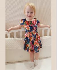 Платье бархатное с цветами