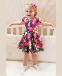 Платье из неопрена с цветами